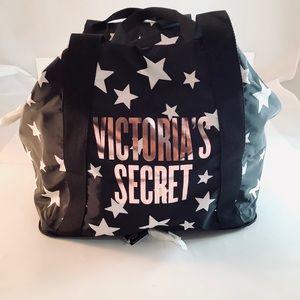 VICTORIA'S SECRET Packable Weekender Tote Bag Star
